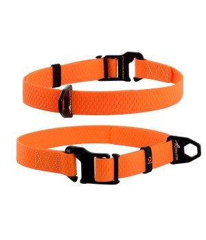 Ошейник EVOLUTOR (ЭВОЛЮТОР) самый прочный, оранжевый (25 мм, ширина 25-70 см)