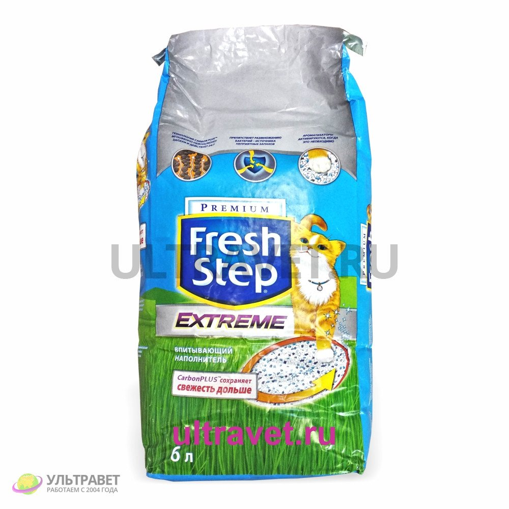 Впитывающий наполнитель Fresh Step® EXTREME для кошачьего туалета