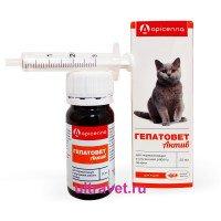 Гепатовет Актив для кошек (аромат бекона), 25 мл