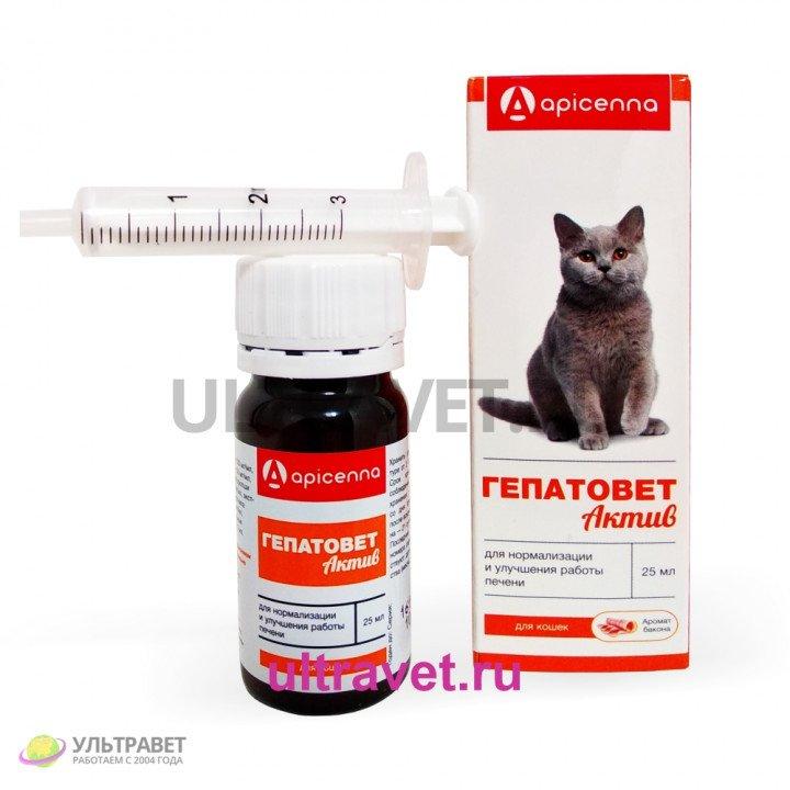 Гепатовет Актив для кошек (аромат бекона) со шприцем-дозатором, 25 мл