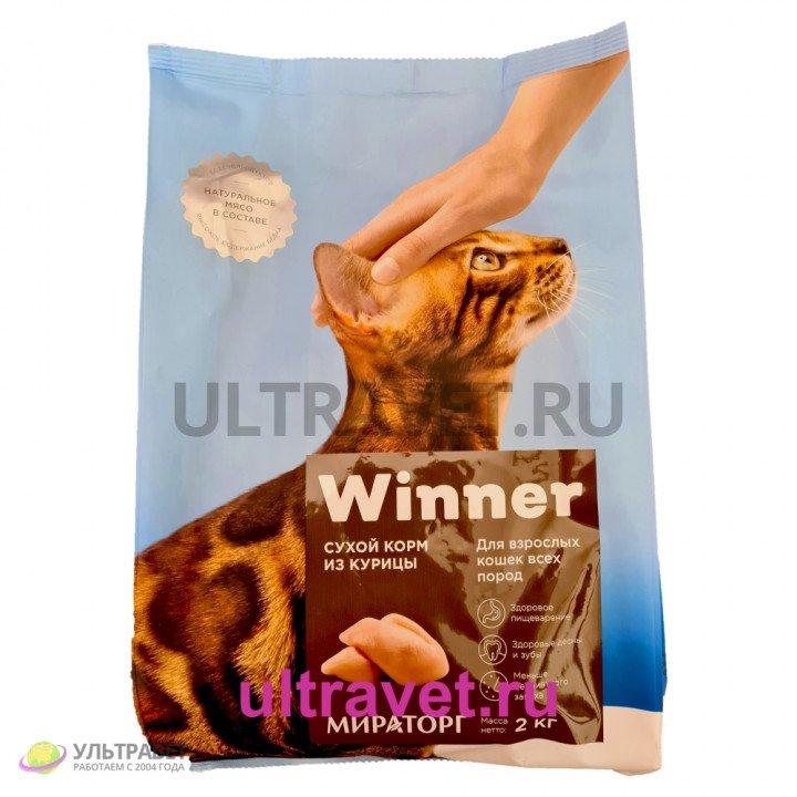 Сухой корм Winner от Мираторг из курицы для взрослых кошек всех пород, 2 кг