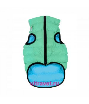 Курточка двухсторонняя светящаяся AiryVest Lumi, салатово-голубая (XS 30, S 40)