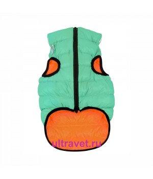 Курточка двухсторонняя светящаяся AiryVest Lumi, салатово-оранжевая (XS 25, S 35)