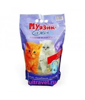"""Наполнитель комкующийся Мурзик-Снежок """"Универсал"""", 4 л"""
