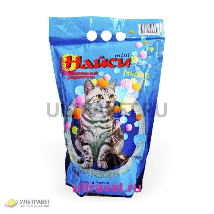 Наполнитель силикагелевый Найси mini Premium для кошачьего туалета, 2,8 л