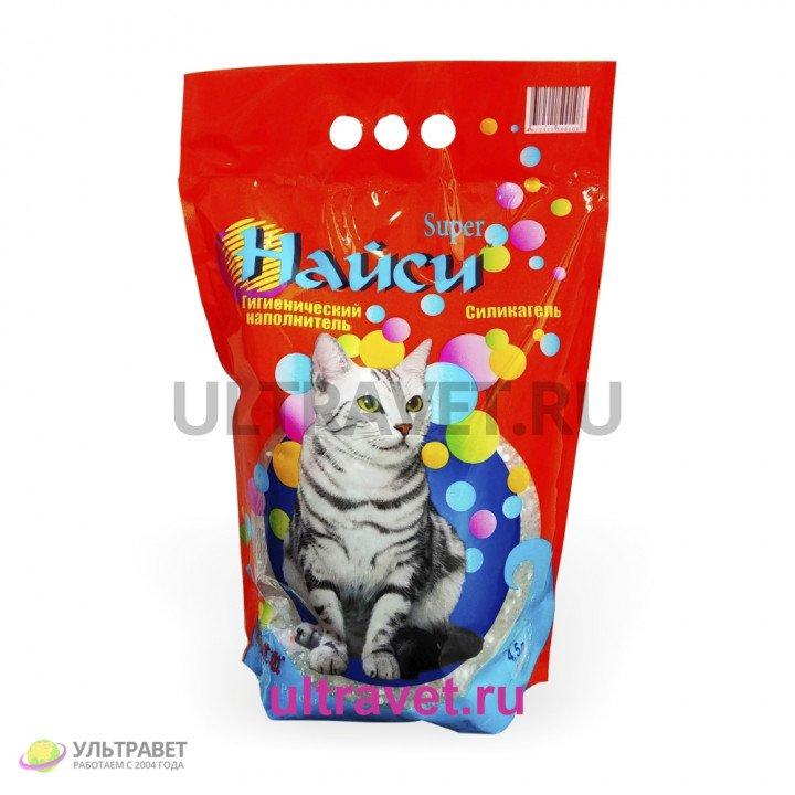 Наполнитель силикагелевый Найси Super для кошачьего туалета, 4,5 л
