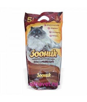 Наполнитель впитывающий Зооник для кошачьего туалета, 5 л