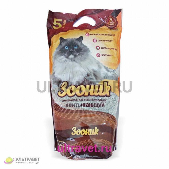 Наполнитель впитывающий Зооник для кошачьего туалета