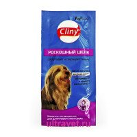 Шампунь-конд. Cliny Роскошный шёлк для длинношёрстных собак, саше 15 мл
