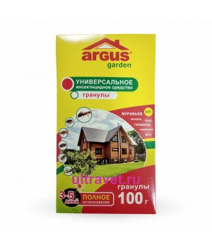 Гранулы Argus Garden от муравьев, тараканов, блох, мух и др. насек., 100 гр