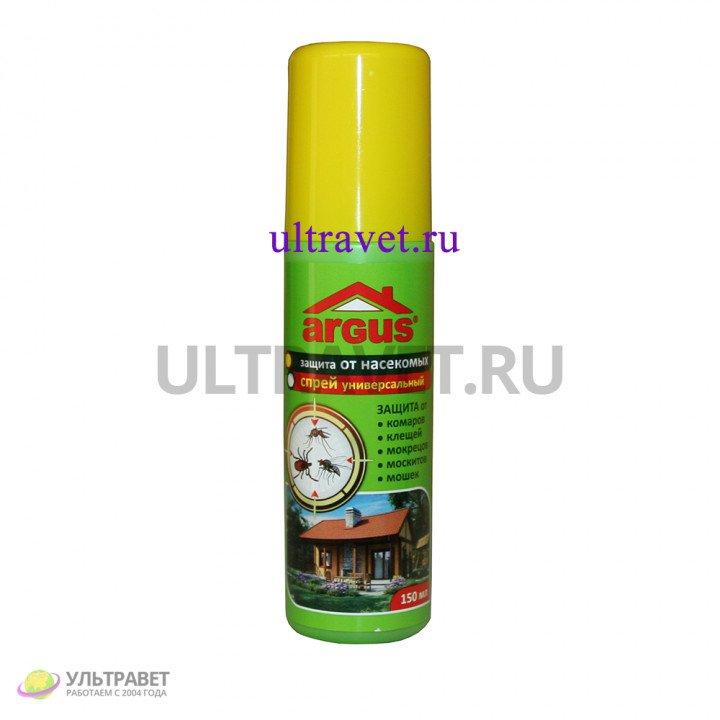 Спрей универсальный ARGUS для защиты от комаров, клещей, мокрецов, москитов, мошек, 150 мл