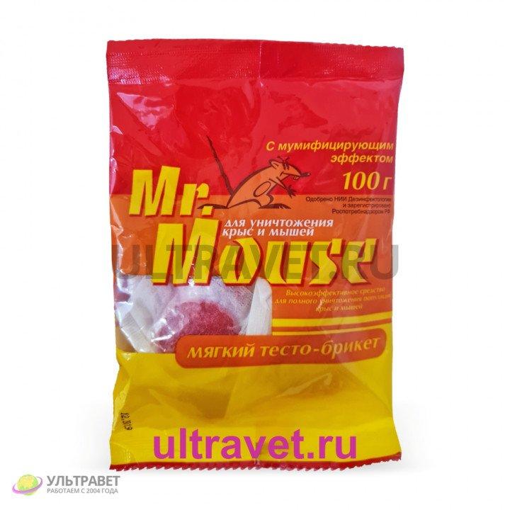 Тесто-брикет для уничтожения мышей и крыс Mr.Mouse, 100 гр