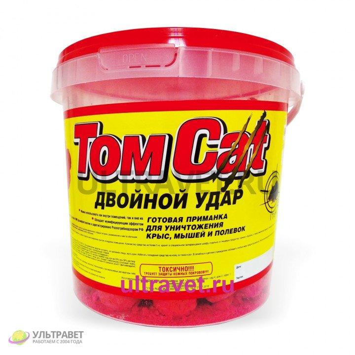 Том кот (TomCat) Двойной удар твердые шарообразные брикеты с начинкой, 1 кг